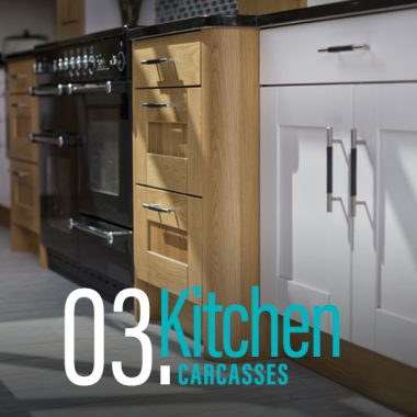 Made to measure kitchen carcasses